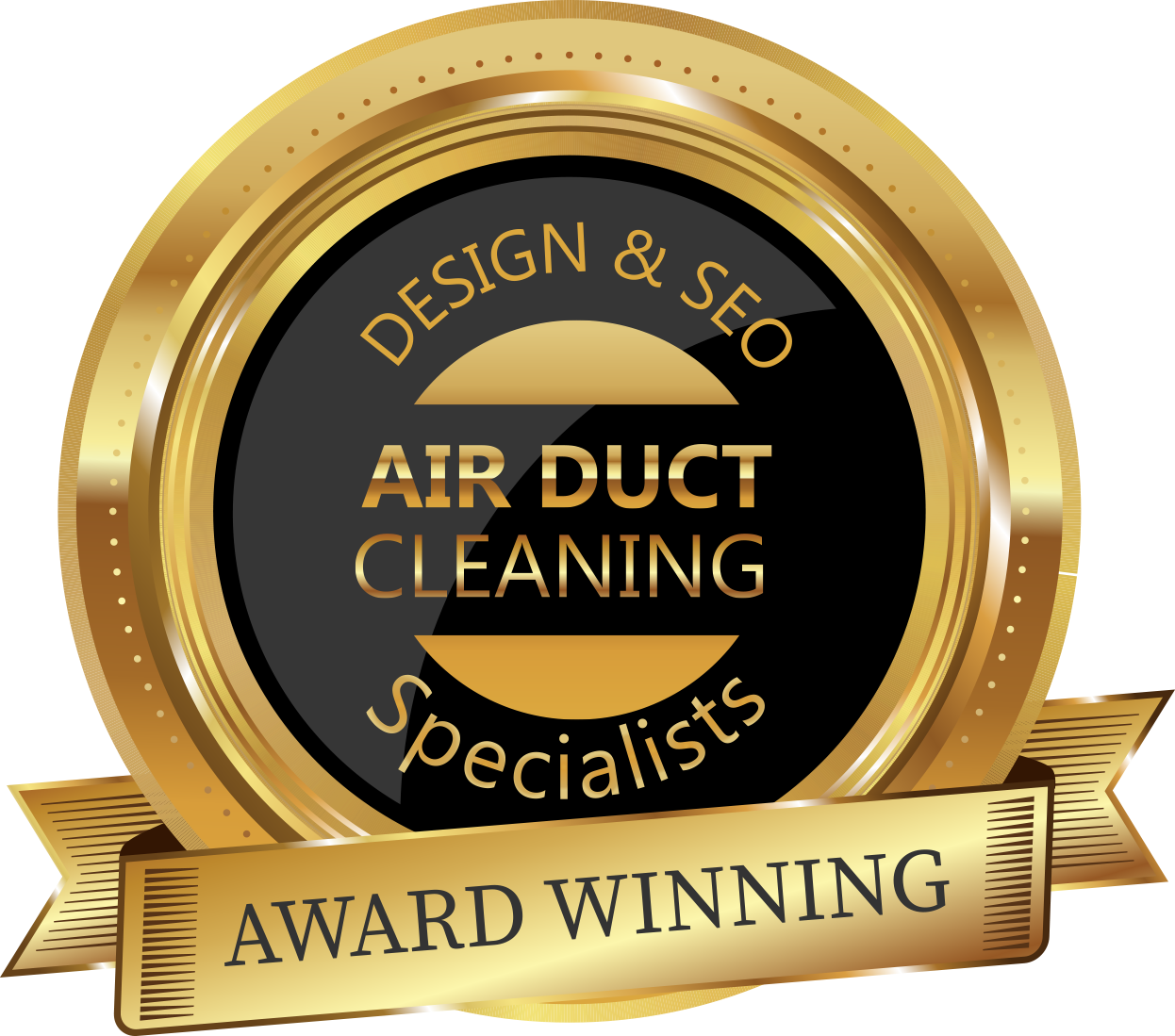 Badge - Award Winning Air Duct Cleaning Design & SEO Specialists