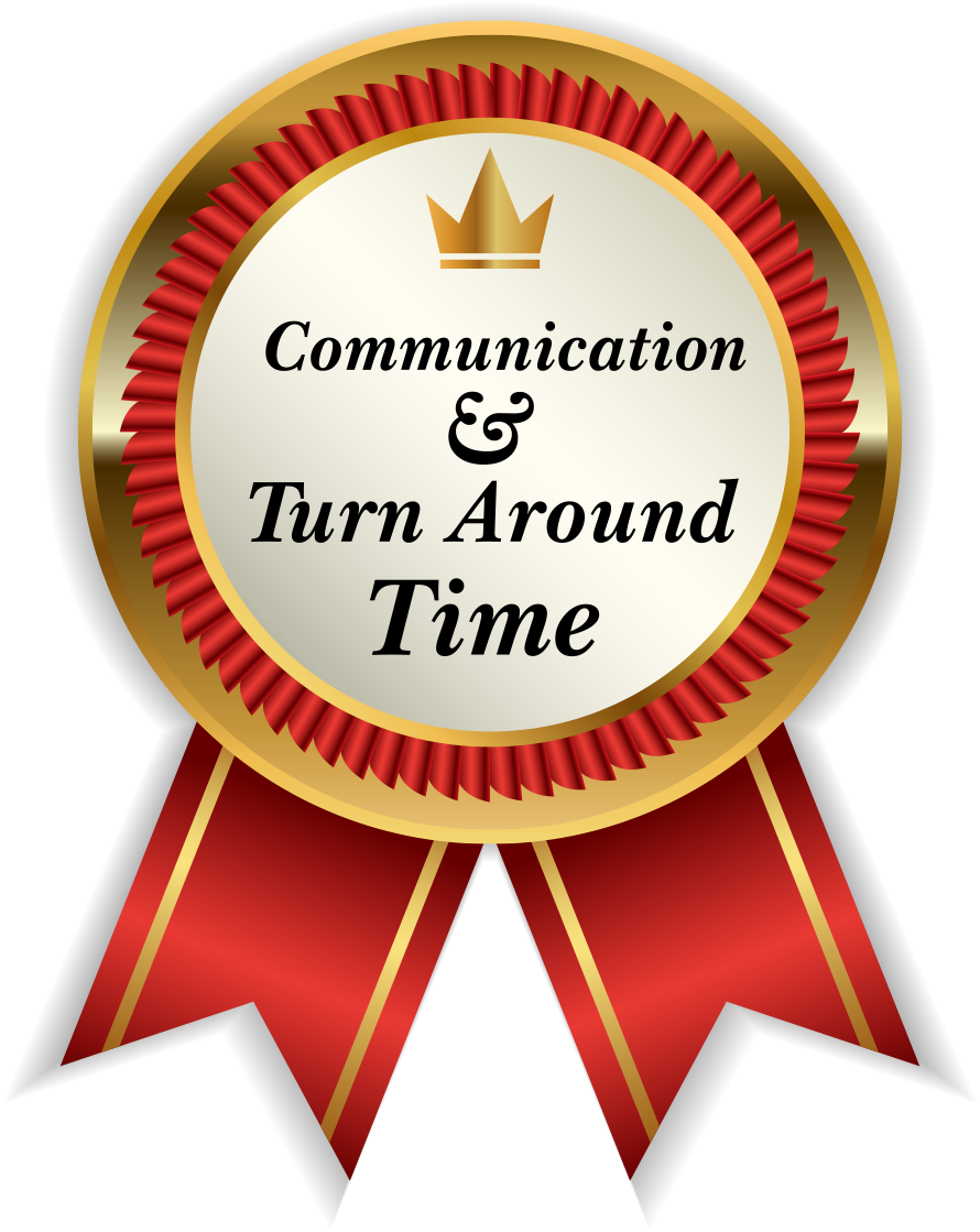 Badge - Communication & Turn around time